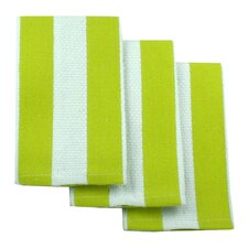 MUincotton Dish Cloth in Kiwi Stripe (Set of 3)