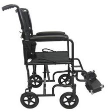 Steel Ultra Lightweight Transport Wheelchair with Fixed Full Arms