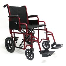 <strong>Karman Healthcare</strong> Bariatric Transport Wheelchair with Removable Armrest