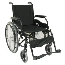 High Strength Lightweight Swing-Away Footrests Wheelchair in Black