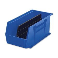 "Bins, Unbreakable/Waterproof, 5-1/2""x10-7/8""x5"", Blue"