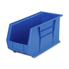 "Bins, Unbreakable/Waterproof, 8-1/4""x18""x9"", Blue"