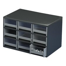 "Modular Cabinet, 9 Drawers, 17""x11""x11"", Gray"