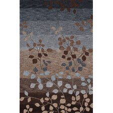 Studio Mocha Leaves Area Rug