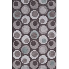 Studio Taupe Circle Rug