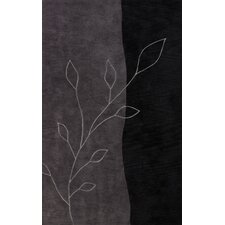 Studio Black Leaves Rug