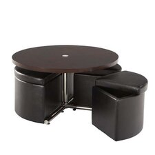 Cosmos Coffee Table with Ottoman (Set of 4)