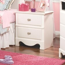 Spring Rose 2 Drawer Nightstand
