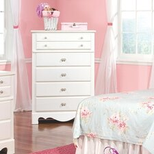 Spring Rose 5 Drawer Chest