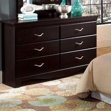 Crossroads 6 Drawer Dresser
