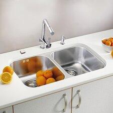 Duo 30 75.2 x 44cm Rectangular Kitchen Sink in Satin