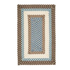 Montego Border Bright Brown Kids Rug