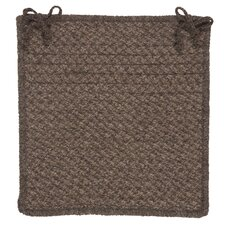Natural Wool Houndstooth Chair Pad (Set of 4)