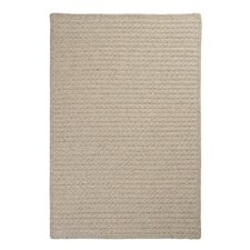 Natural Wool Houndstooth Braided Cream Rug