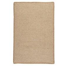 Natural Wool Houndstooth Braided Tea Rug