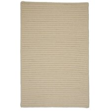 Simply Home Solid Cream Indoor/Outdoor Rug
