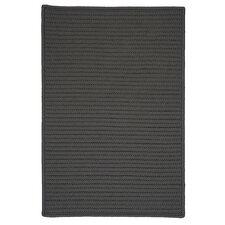 Simply Home Gray Solid Indoor/Outdoor Area Rug