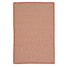 Outdoor Houndstooth Tweed Orange Rug