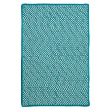 Outdoor Houndstooth Tweed Turquoise Rug