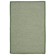 Outdoor Houndstooth Tweed Leaf Green Rug