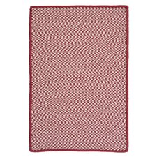 Outdoor Houndstooth Tweed Sangria Rug