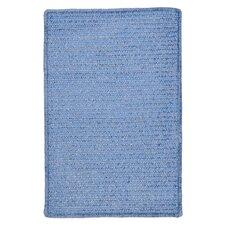 Simple Chenille Petal Blue Indoor/Outdoor Rug