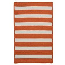 Stripe It Tangerine Indoor/Outdoor Rug