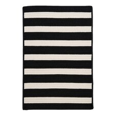 Stripe It Black White Indoor/Outdoor Rug