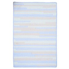 Ticking Stripe Oval Starlight Rug