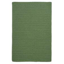 Simply Home Moss Green Solid Indoor/Outdoor Area Rug