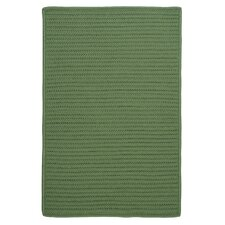 Simply Home Solid Moss Green Indoor/Outdoor Rug