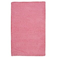 Solid Chenille Pink Kids Rug