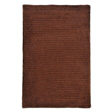 Solid Chenille Chocolate Area Rug