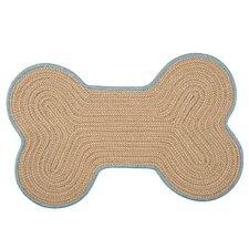 Dog Bone Boat House Tweed Pet Mat
