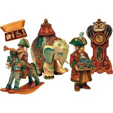 Derevo 4 Piece Nutcracker Ornament Set in Woodbox