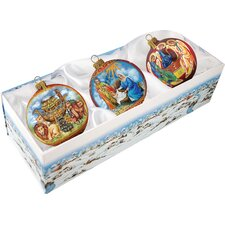 Traditional Nativity Ornament (Set of 3)