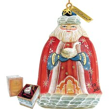 Santa with Goose Bell Ornament
