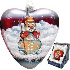 Snowman Heart Ornament