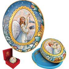 Derevo Angel Egg Wrapped Wishes Box