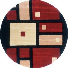 New Wave Black/Red Rug