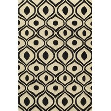Bliss Black/Ivory Tufted Area Rug