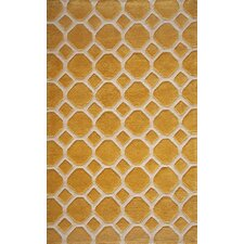 Bliss Gold Tufted Area Rug