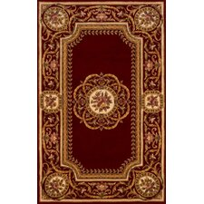 Harmony Burgundy Red Floral Area Rug