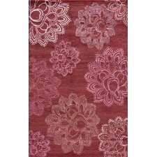 Zen Magenta Red Area Rug