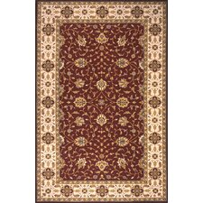 Persian Garden Burgundy Area Rug