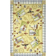Coastal Sand Lighthouse Novelty Rug