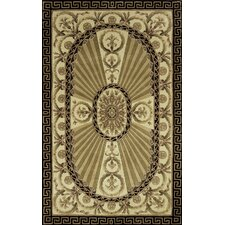 Harmony Brown/Black Floral Area Rug