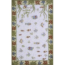 Coastal Light Blue Novelty Rug