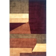 New Wave IV Wine Area Rug