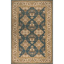 Persian Garden Teal Blue Area Rug